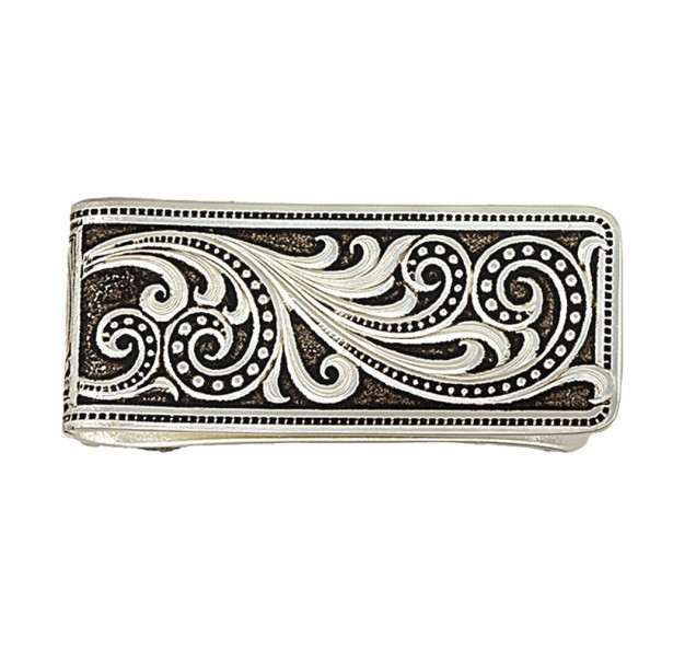 MCL16RTS Beaded Scroll Money Clip-0
