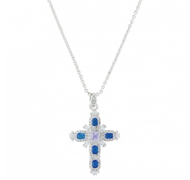 NC3399 River of Lights Budded Cross Necklace -0