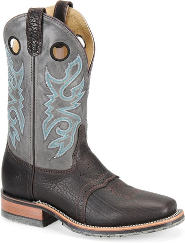 DH3575 Chocolate Roper with Grey Upper -0
