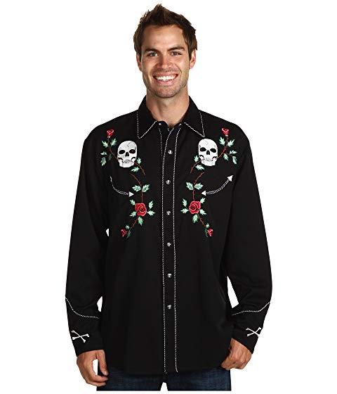 Scully Skull Retro Shirt P-771-0