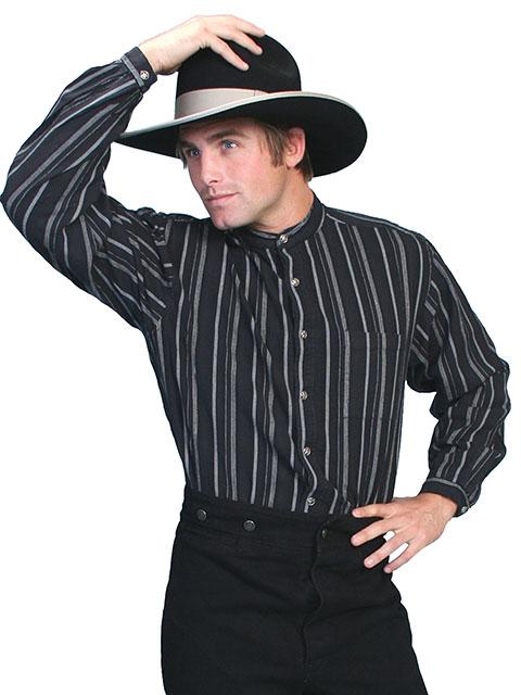 RW025 Black Dobby Stripe Shirt-0