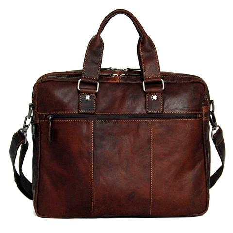 7317 Large Double Gusset Top Zip Briefcase-6641