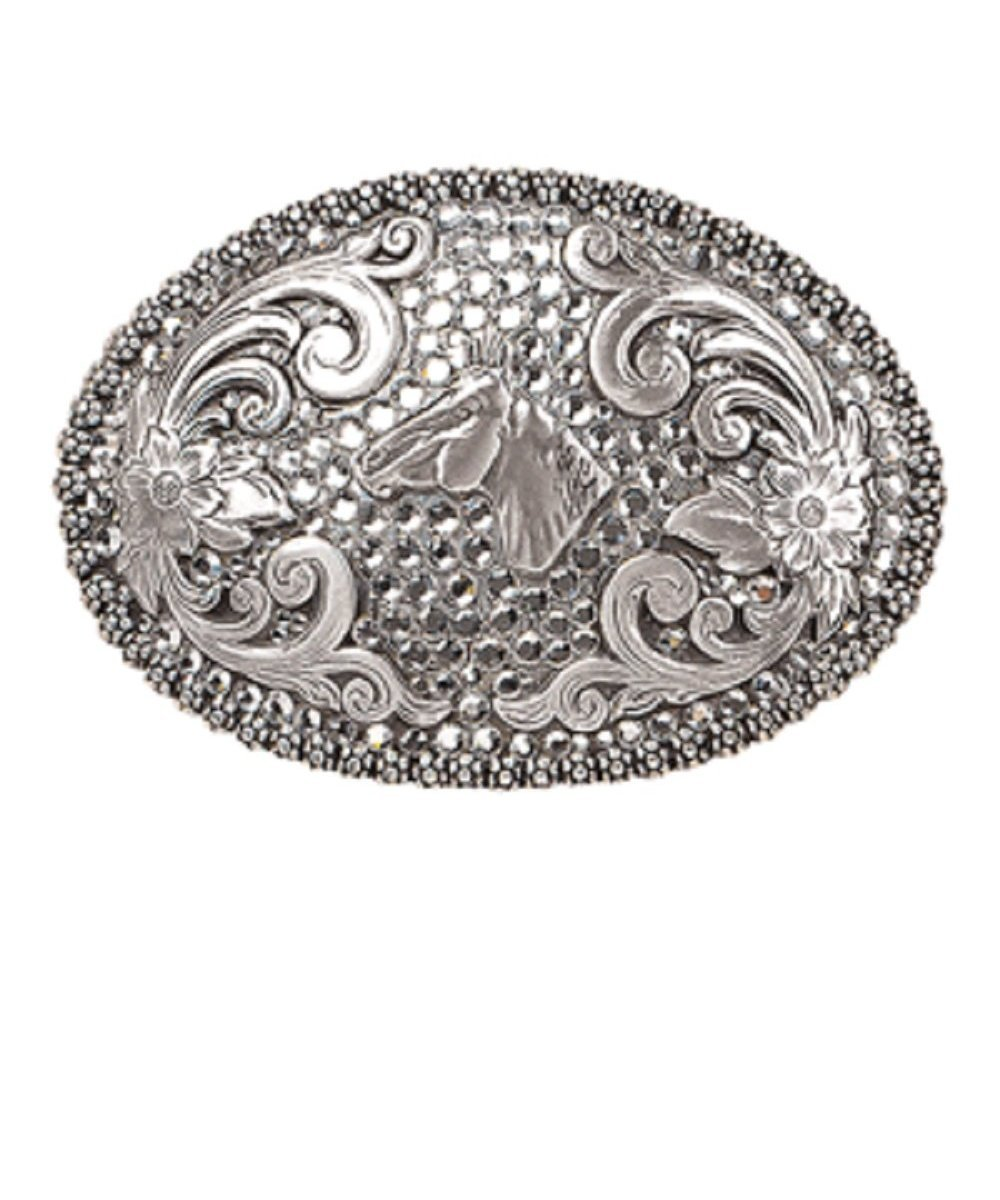 37536 Crystal Horsehead Buckle-0