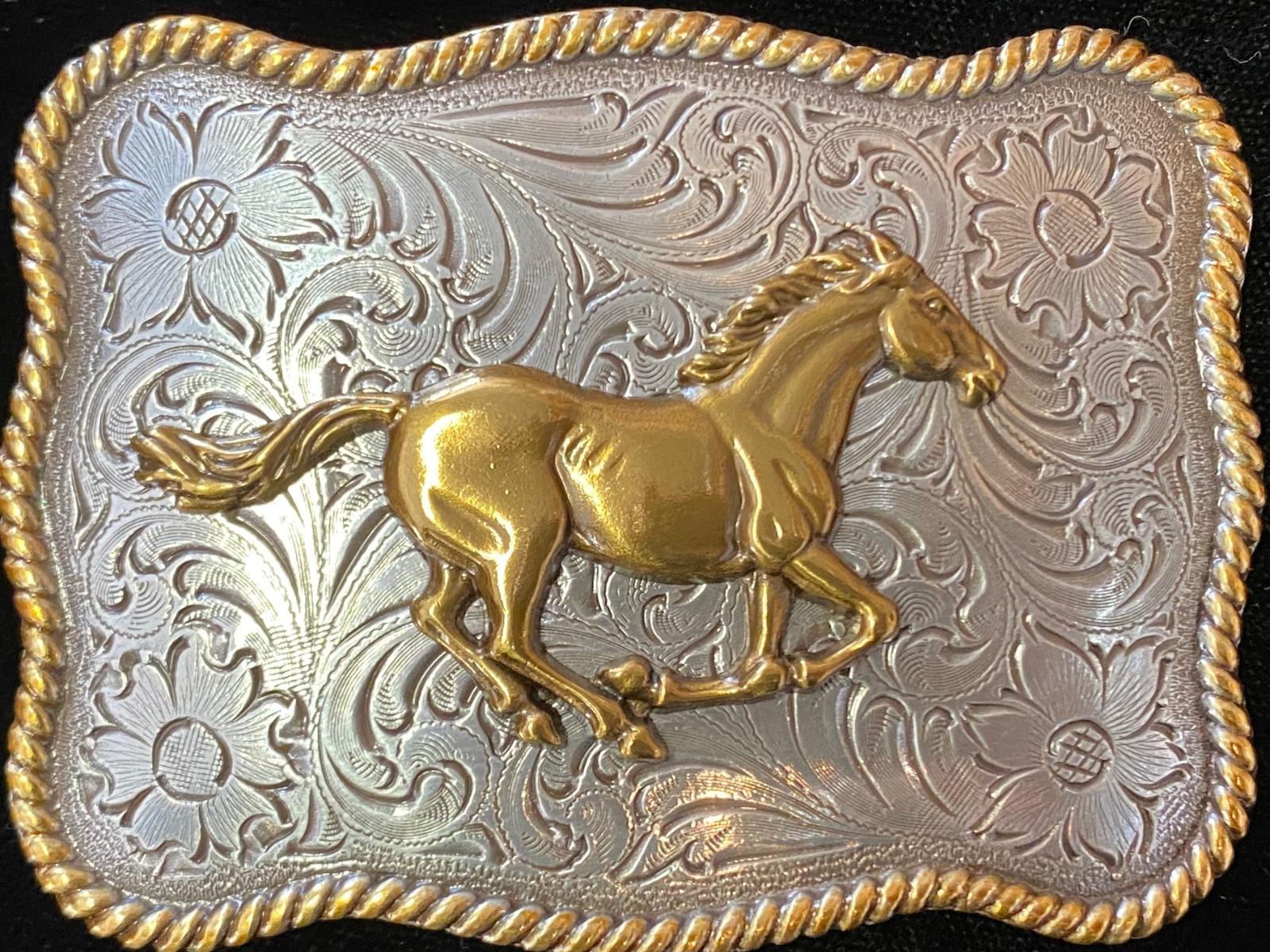 3757452 Running Horse Buckle-0