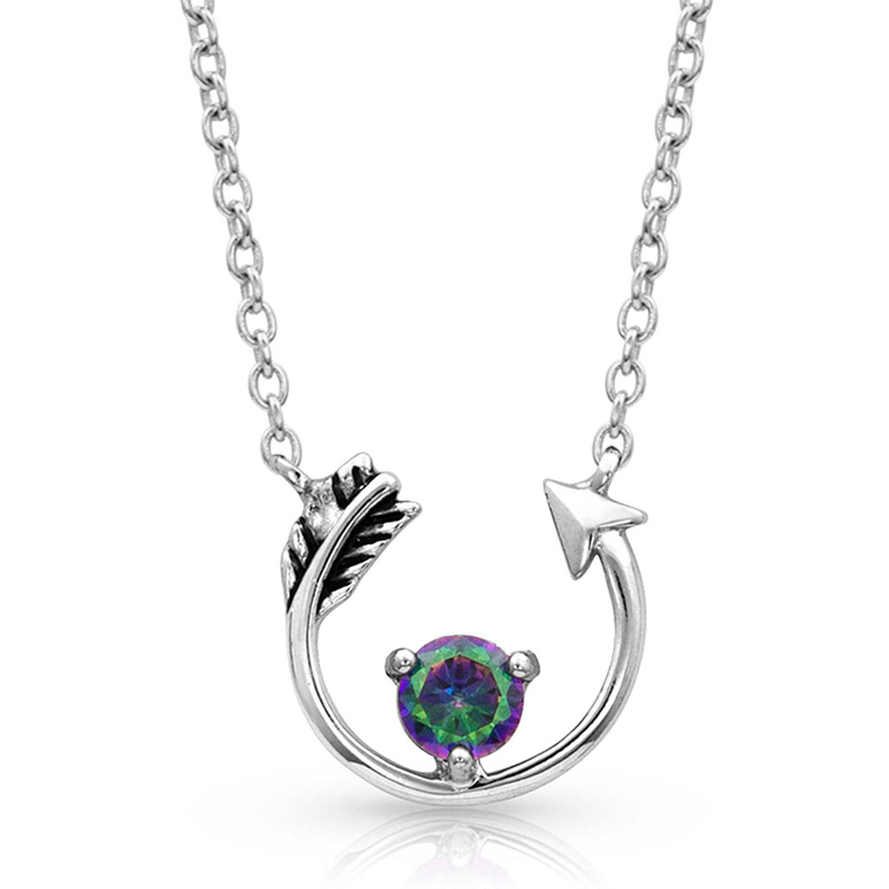 NC4145 Northern Lights Lucky Arrow Necklace-0