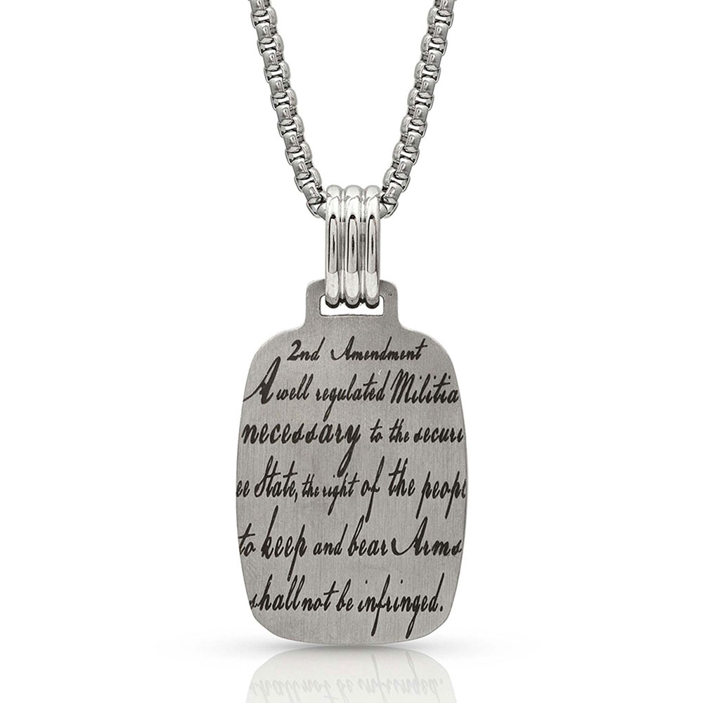 NC4179 Don't Tread on Me Necklace-8628