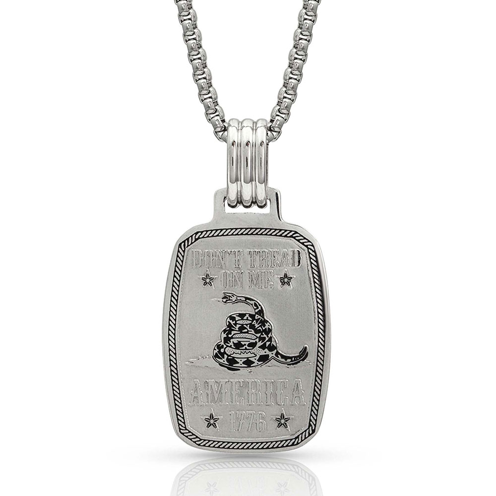 NC4179 Don't Tread on Me Necklace-0