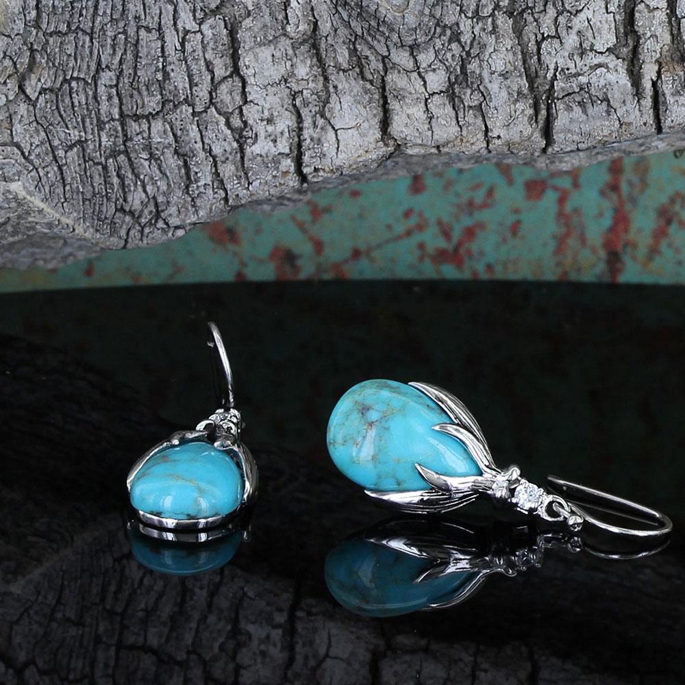 SLKTER2801 Crowns of GloryTurquoise Earrings-8646
