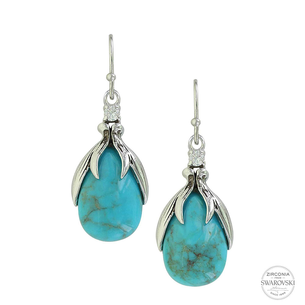 SLKTER2801 Crowns of GloryTurquoise Earrings-0