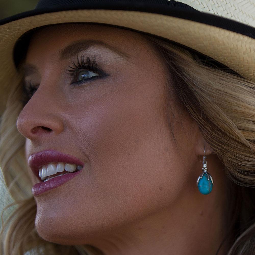 SLKTER2801 Crowns of GloryTurquoise Earrings-8647